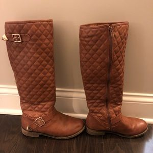 e75ac0fed7a TOP Moda quilted riding boots